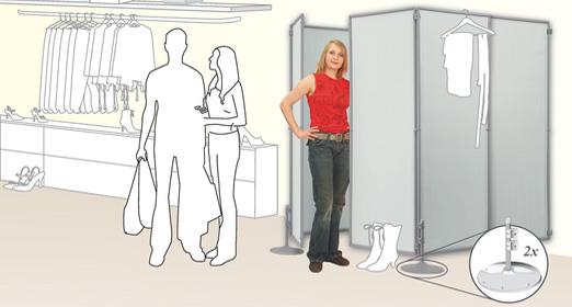 Umkleidekabine Gesteckt Aus Sichtschutz Paravent Indoor