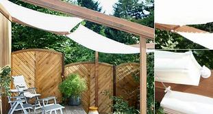 sonnenschutz pergola mit sonnensegel unterspannung sonnensegel markise. Black Bedroom Furniture Sets. Home Design Ideas